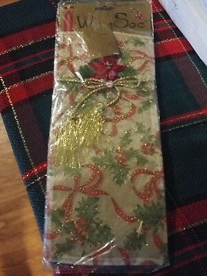 Wine Bottle Cover Sock Bag Christmas