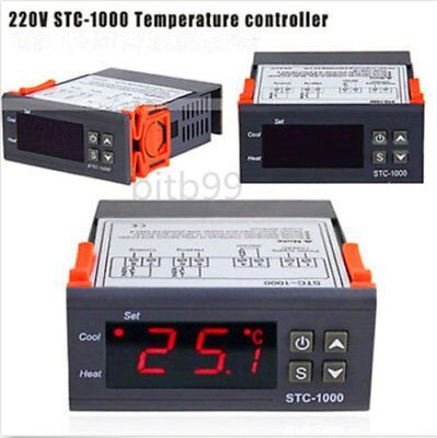 220V Digital STC-1000 All-Purpose Temperature Controller Thermostat With SensPP