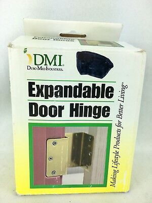 "Expandable Door Hinge 1 Set of 2 Hinges - Adds 2"" To Most Openings Brass Finish"