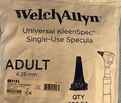 Welch Allyn 52434-U Universal KleenSpec Single Use Specula, Adult, 4.25mm, 34/pk