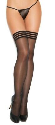 Sheer Thigh Highs with Satin Bow Accent LA1911