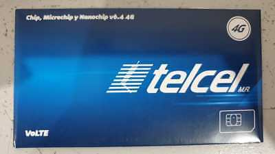 Telcel Sim Card UNLIMITED calls/SMS within Canada, USA and Mexico x 28 DAYS + MB