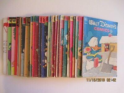 Lot Of (30) Walt Disney's Comics And Stories Dell 1950's