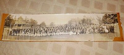 "Antique Indiana Grand Lodge Delegates - Visiting Odd Fellows Home 1911 39"" Long"