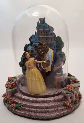 Walt Disney Beauty And The Beast Belle Figurine With Glass Dome Statue Figure