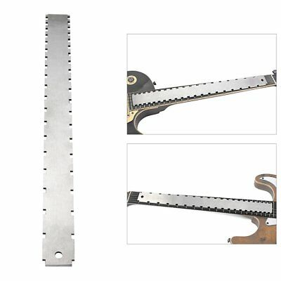 Steel Electrical Guitar Neck Notched Straight Edge Frets Measure Tool XA