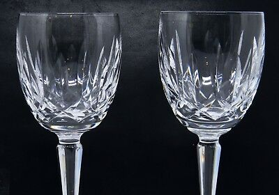 """Waterford Crystal Kildare Pair/2 Water/Wine Glass Goblets 7"""""""