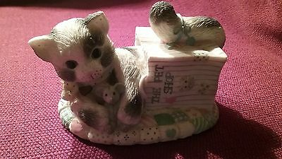 Calico kittens our friendship is out of the bag figurine