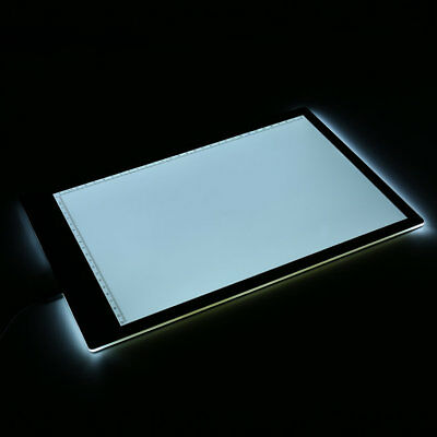 Acrylic 5mm Super Thin A4 Size LED Drawing Copy Tracing Stencil Board Tab NQ