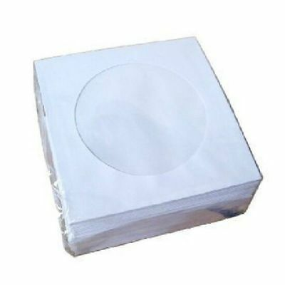 100 pcs CD DVD Paper Flap Clear Window Sleeves Envelope - New - Free Shipping