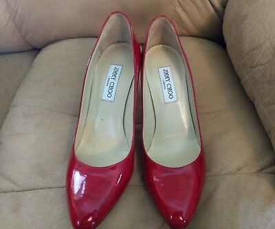6776a210356c12 Jimmy Choo Red Patent Leather Pumps Size 40 Euro in original box