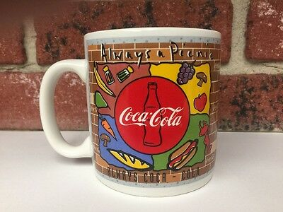 Coca-Cola Always a Picnic Bon Appetit Coffee Mug 1995 Enesco 169803 Collectible
