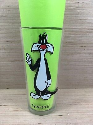 SYLVESTER Vintage 1973 Warner Bros Pepsi Collectors Series Glass 6.25""
