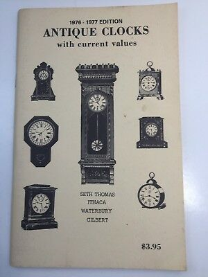 """COLLECTIBLE REFERENCE BOOK """"ANTIQUE CLOCK"""" describes & VALUES, 1976-77, 68 PAGES"""
