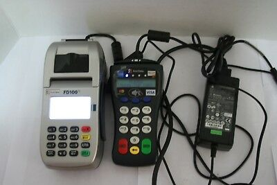 First Data FD100Ti IP/Dial Machine and FD30 Pin Pad Credit Card Processing