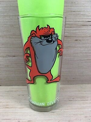 TASMANIAN DEVIL Vintage 1973 Warner Bros Pepsi Collectors Series Glass 6.25""