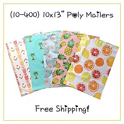 """10-400 Pack - 10x13"""" Variety Pack Designer Poly Mailers! **FREE SHIPPING!**"""