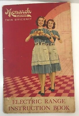 """Advertising Booklet """"monarch Electric Range"""" 72Pgs  Recipes & Instructions"""
