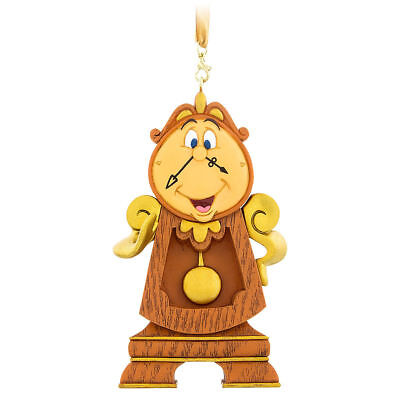 Disney Parks Beauty and the Beast Cogsworth Clock Christmas 3D Tree Ornament NWT