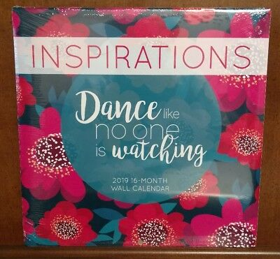 2019 - 16 Month Wall Calendar ~ NEW ~ INSPIRATIONAL QUOTES