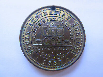 1887 GAWLER SOUTH AUSTRALIA MEDALET QUEEN VICTORIA'S 50th GOLDEN JUBILEE