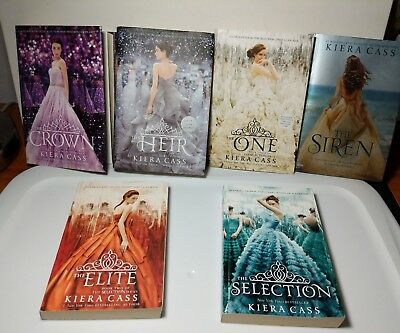 The Selection Series by Kiera Cass Signed Heir 6 Book Set Elite Crown One Siren