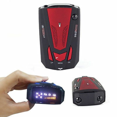 Professional Car Radar Detector 16 Band Voice Alert Laser V7 LED Display  YU