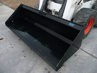 """Bobcat Skid Steer Attachment - 84"""" HD Low Profile Smooth Bucket - Ship $199"""