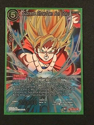 b8f050ee275c9 SUPREME SHOWDOWN SON Goku TB2-002 SPR Dragon Ball Super TCG NEAR ...