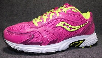 e0ca9bf296a1 SAUCONY OASIS GRID Womens Running Shoes Womens Size 10 M Pink Lime ...