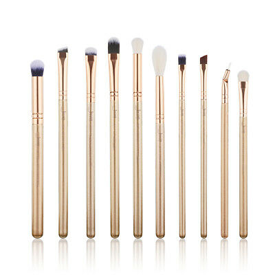 New Jessup Makeup Brushes Set Eyes Cosmetic Eyeshadow Brow Eyeliner Lip 10Pcs