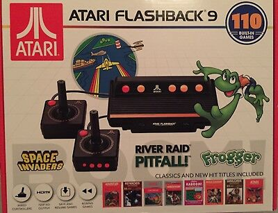 New 2018 Atari Flashback 9 Classic Console Video Game 110 Built In Games Frogger