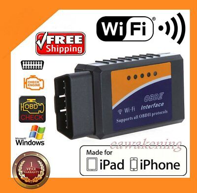 Diagnosis Elm 327 Elm327 Wifi Obd2 Obdii Wifi Ios Apple Iphone Androyttn