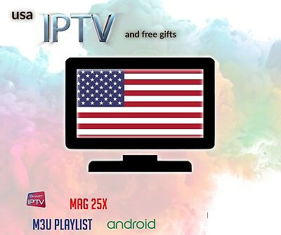 IPTV Usa subscription 1 year, PPV, (English, arabic, & more optional)