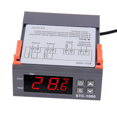 Digital STC-1000 All-Purpose Temperature Controller Thermostat With Sensor 7PP