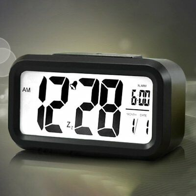 LCD Display Backlight Calendar Battery Digital Alarm Clo NQ