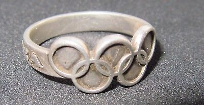 Vintage Ring Moscow 80 silver Olympiad