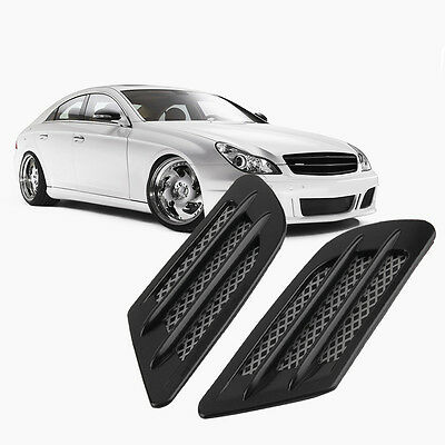 Car Side Air Flow Vent Hole Cover Fender Intake Grille Decoration Sticker NYHF
