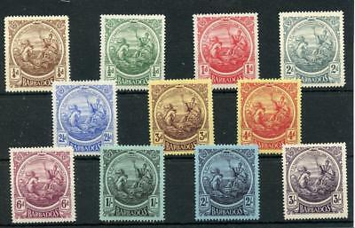 Barbados 1916-19 set SG181/91 MLH (1s is MM)
