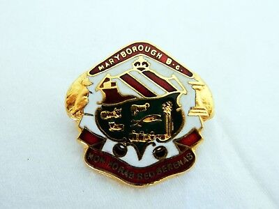 Vintage Retro Maryborough Bowling Club Enamel Badge Pin Non Horas Sed Serenas