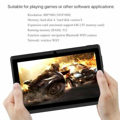 7 Inch TFT Display HD 1080P Quad Core Dual Camera 512M+8G Tablet for Andro NQ