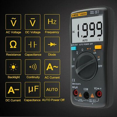 Digital Multimeter AN8004 LCD Display Multimeter 2000 Counts AC/DC Tester~RCAW