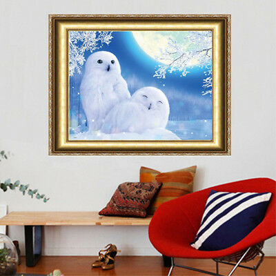 Diamond Painting Full Square Drill Owl 5D Rhinestone Embroidery Art&DIY Decor