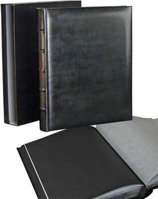 Walther FA373BC Classic black large vertical drymount photo album with slip-case