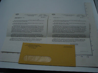 Original Vintage paper: 1965 US TREASURY DEPARTMENT letter papers to THEATRE