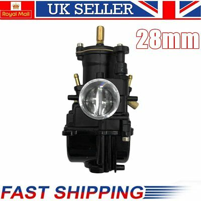 Universal Motorcycle Carburetor 28mm For Keihin Carb PWK Mikuni With Power JetLQ