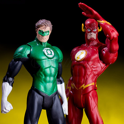 2pcs/set DC Hero Justice League The Flash Green Lantern Action Figure Toy Gift