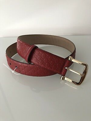 Gucci Red Leather Belt Sylvie Princetown RP£295 Bloggers Marmont Web 656d8fd9b17