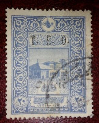 "TURKEY 1916 STAMP - USED - 1919  - OVERPRINT ""T.E.O. Cilicie""  FRENCH OCCUPATION"