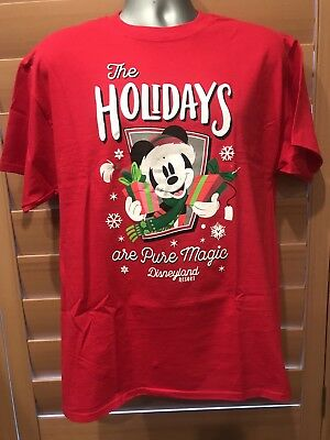 Disney Parks/disneyland The Holidays Are Pure Magic Mickey Mouse T-Shirt (2Xl)